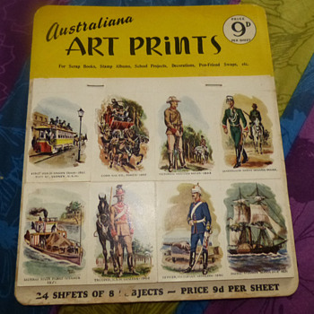 Australiana Art Prints, circa 1950&#039;s-1960&#039;s