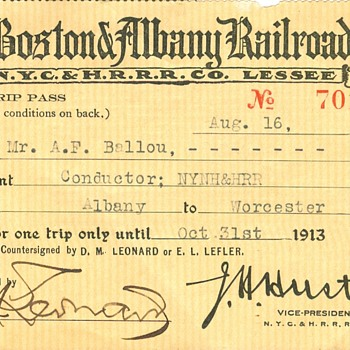 More Railroad Passes - Railroadiana