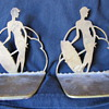 Vintage metal bookends
