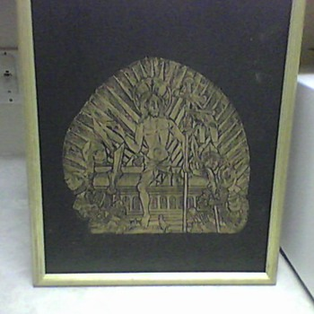 VINTAGE BRASS RUBBING - Posters and Prints