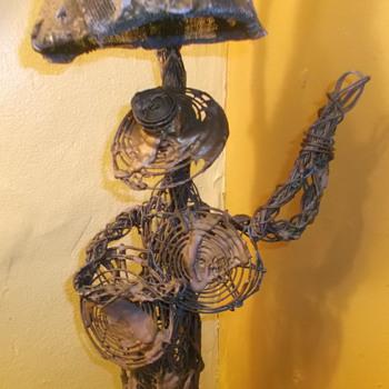 wire art sculpture lamp - Lamps