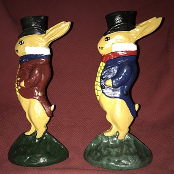 Albany Foundry #94 Gentleman Rabbit Doorstops