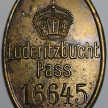 German Southwest Africa Pass Mark (Passmarke) - Military and Wartime