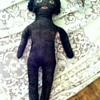 Black cloth doll WWii