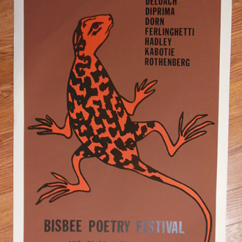 Poetry Festival Poster, 1979:  Ferlinghetti, Rothenberg - Posters and Prints