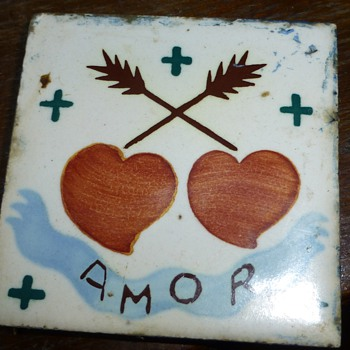 old acrilyc tile,?????? - Art Pottery