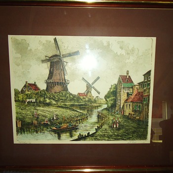 $10.00 Dutch print from Gospel Thrift Store, Who i artist?? - Posters and Prints