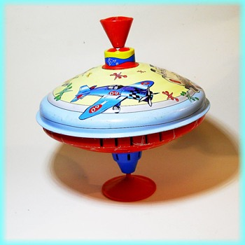 Litho Tin Toy Top - Larger Size