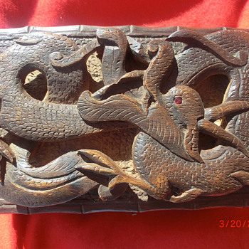 Hand-carved Chinese Jewelry Box from China - Asian