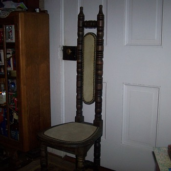 Old Vintage Tall Back Captain's Chair? - Furniture
