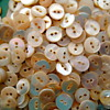 Mother of pearl vintage buttons 2 hole diminutive 3/8""