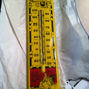 RARE? Lay or Bust Porcelain Thermometer  - Advertising
