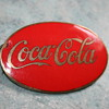 coca cola porcelain enamel delivery uniform badge