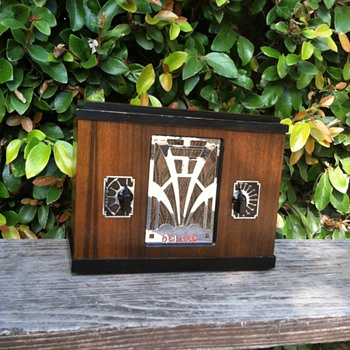 Rare Art Deco Deluxe Chrome Grille Tube Radio Model 1731 - Radios