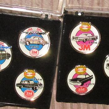 NASCAR PINS  1949-1960 3M BRAND.
