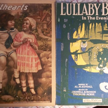 """VINTAGE SHEET MUSIC WITH ADORABLE KIDS ON IT! Both 1919 Waltzes""""SWEETHEARTS"""" & """"LULLABY BLUES""""  - Music"""