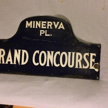 1920s-1930s Bronx, N.Y. porcelain street sign