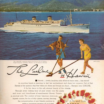 1952 - Matson Lurline Advertisement