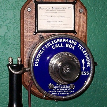 National Autophone Electric call box - Telephones