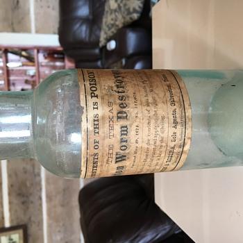 The Texas Cotton Worm Destroyer Pat.1874 - Bottles