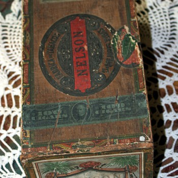 Nelson Cigar Box - large size - Tobacciana