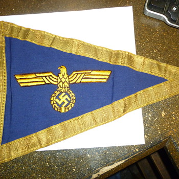 ww2 german  Donitz Grand Admirals car pennants - Military and Wartime