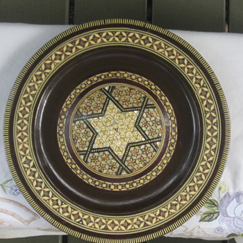 Ivory & Mother of pearl plate