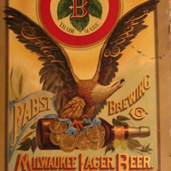FrankTuchfarberPabstShowcard - Breweriana