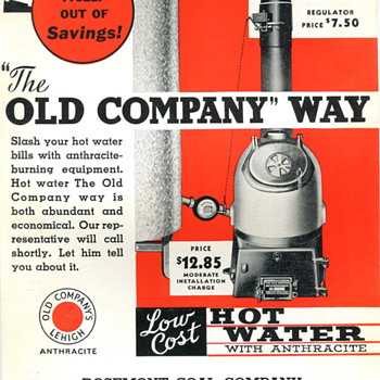 Ad for The Old Company Coal Company - Advertising