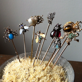 Animals and insects  stick pins. - Fine Jewelry