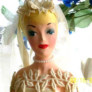 1940's Bridal display mannequin  - Dolls