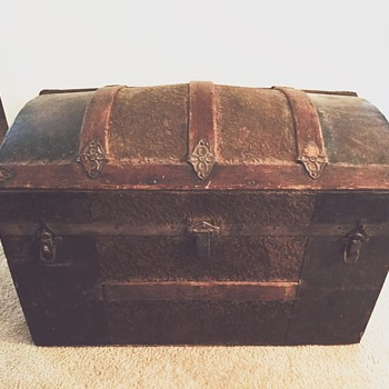 My 3rd great grandmothers antique trunk she took on stage coach