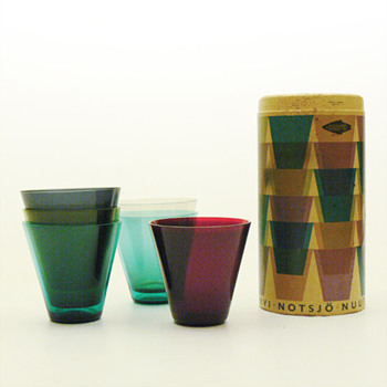 Pack of KARTIO 2744 glasses, Kaj Franck (Nuutajarvi Notsj, 1955)