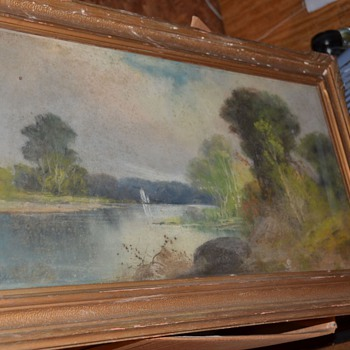 William Chandler Pastel Painting Unknown Mystery