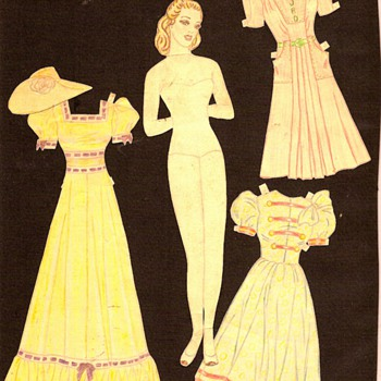 Mom's handmade paper dolls