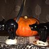 Halloween black cat figurines