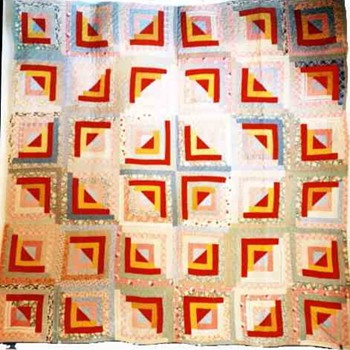 American antique Quilt,cabin lodge,wedding ring,bear paw Patchwork Pattern