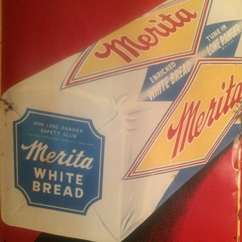1950's embossed Merita Bread Sign