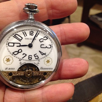 Hebdomas Orator 8 Days Pocket Watch - Looking for help to identify age/history - Pocket Watches
