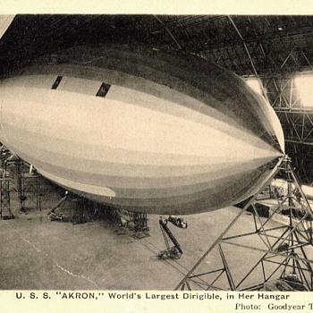 USS Akron postcard - Postcards