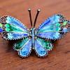 Pretty enamel butterfly brooch