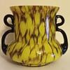 Art Deco honeycomb tango glass vase ?Kralik