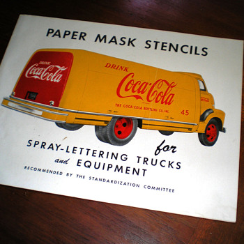 1940s Coca-Cola Truck Stencil Brochure
