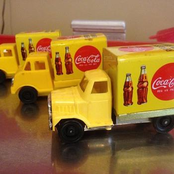 Japan tin '70's toy Coca Cola truck - Coca-Cola