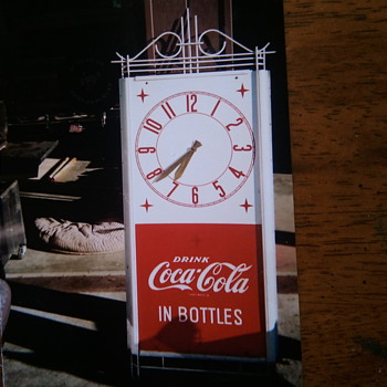 ART DECO COCA COLA CLOCK