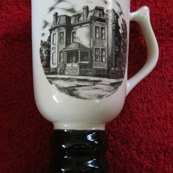 Hall China tri-state East Liverpool Ohio pottery festival 1981 mug - Art Pottery