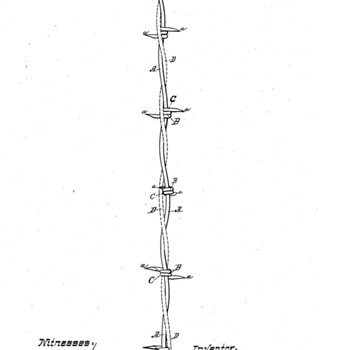 Lightning Rod Barbed Wire Patent & Dodge Star - Tools and Hardware
