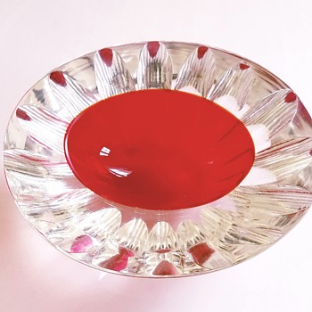 Mid century Murano faceted sommerso caviar bowl - Mid-Century Modern