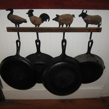 old cast iron frying pan's - Kitchen