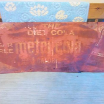 ANTIQUE METRIC COLA SIGN